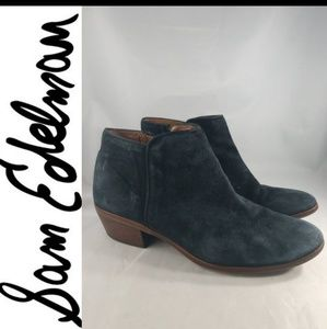 SAM EDELMAN Booties black suede ankle booties 7.5
